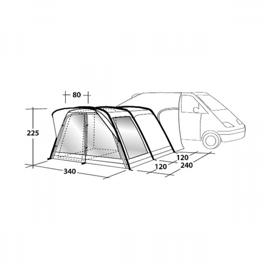 Outwell Country Road Smart Air Tall Driveaway Awning