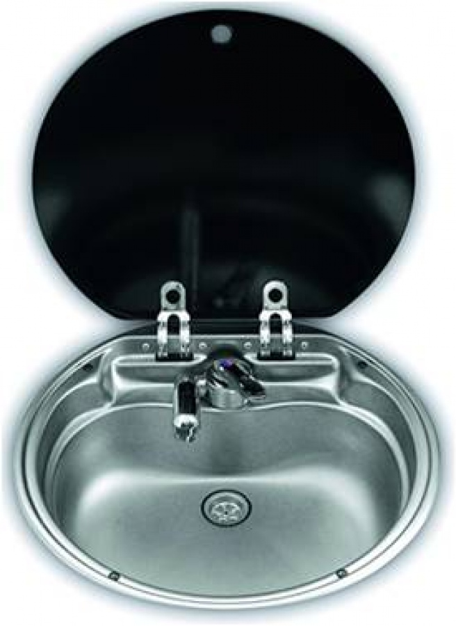 Smev va7306 round sink and lid unit for caravans and motorhomes caravan and campervan kitchen - Caravan kitchen sink ...