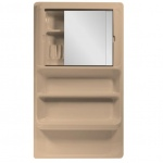 Bathroom Cabinet Large with Sliding Mirror Doors