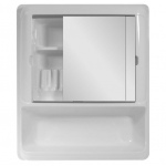 Bathroom Cabinet with Sliding 2 Door Mirror
