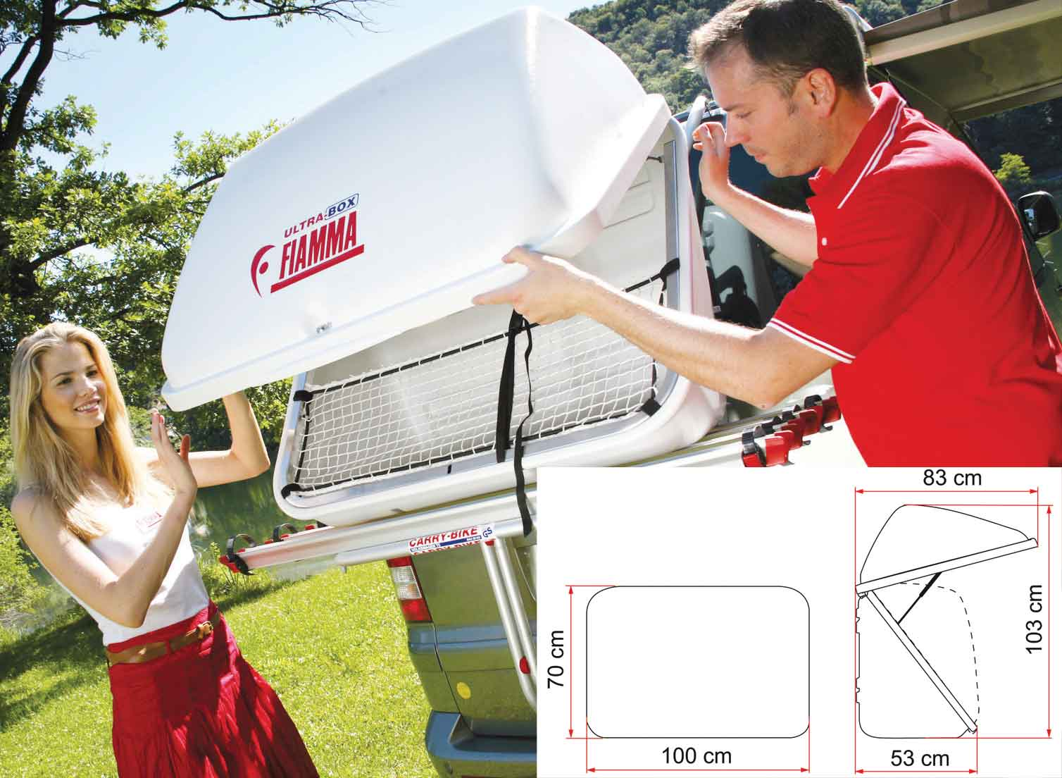 Motorhome and Campervan Roof and Rear mount Storage Boxes