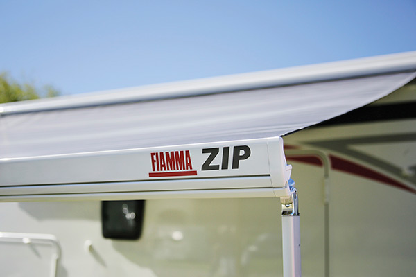 Zip version wind out awnings