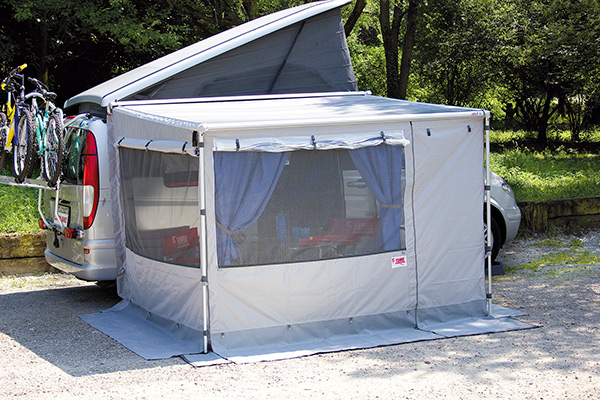 Enclosures for manual awnings