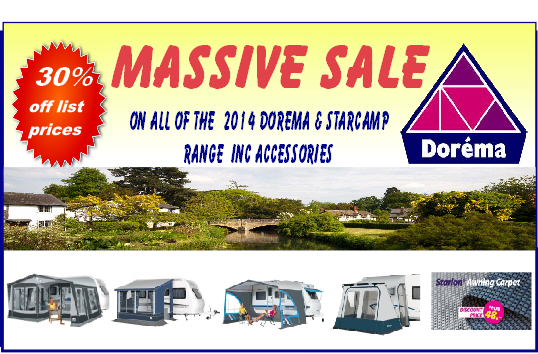 Great prices on all dorema awnings, starcamp awnings, motorhome and caravan awnings