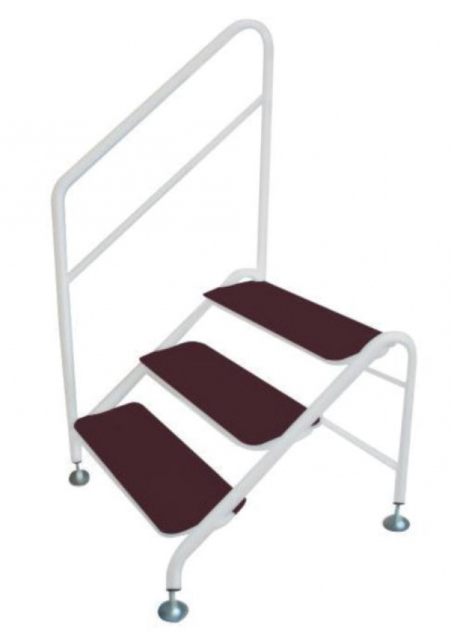 Deluxe Free Standing 3 Tread Step And Handrail