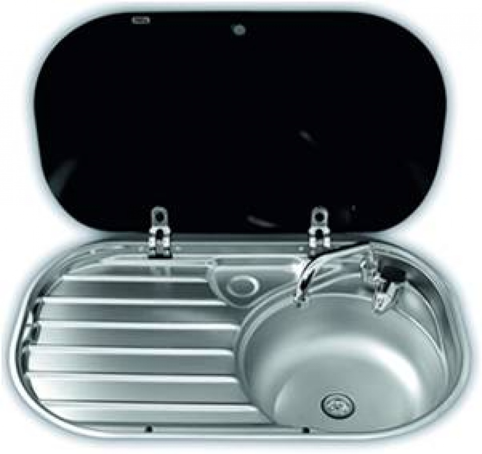 Smev 8306 sink and drainer unit for caravans and motorhomes - Caravan kitchen sink ...