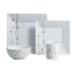 Melamine 16 Piece Dinner Set Linea