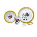 Melamine Childrens 5 Piece Dinner Set
