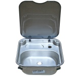 Rectangular Stainless Steel Sink with Lid
