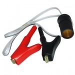 cigar socket to 2 fully insulated crocodile clips